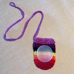 Frosted Worry Glass Cabochon